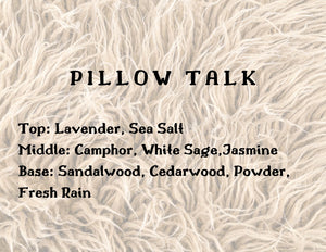 Pillow Talk Candle - White Sage + Lavender + Rainfall