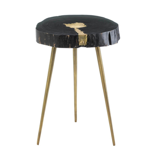 Aurora Edge Wood Side Table