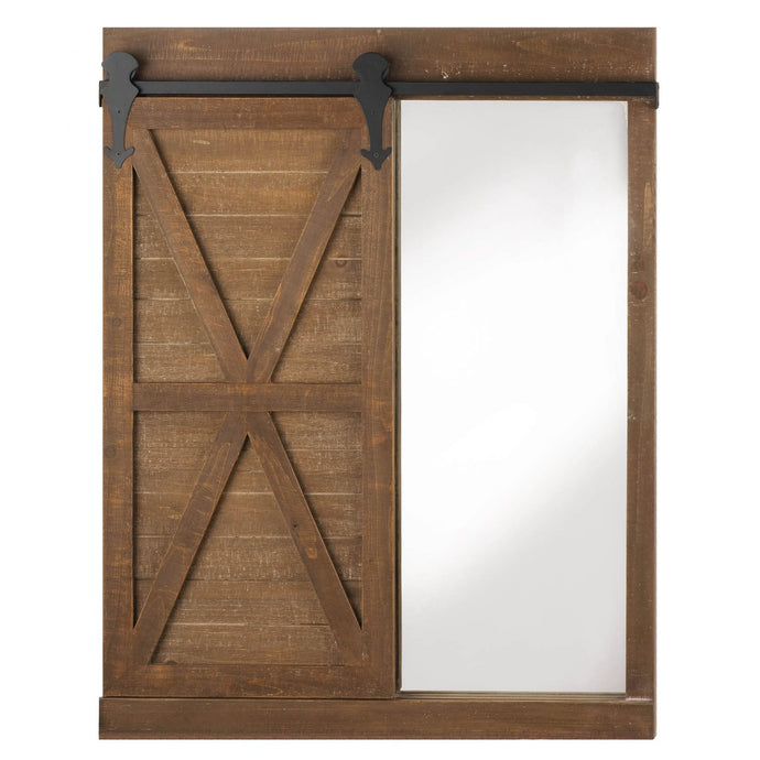 Chalkboard Mirror with Barn Door