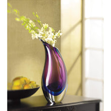 Load image into Gallery viewer, Purple Rain Duo Tone Glass Vase