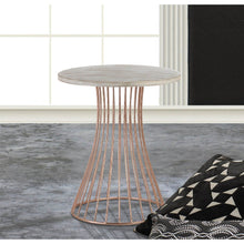 Load image into Gallery viewer, Rose Gold Base Circle Accent Side Table