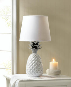 Silver Topped Pineapple Table Lamp