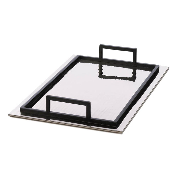 Mirrored Aluminum Rectangle Serving Tray