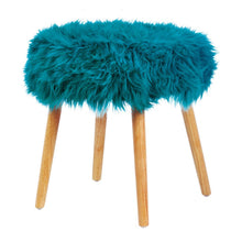 Load image into Gallery viewer, Faux Fur Accent Stool