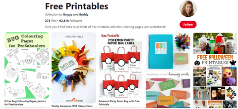 Buggy and Buddy Free Printables Pinterest Board