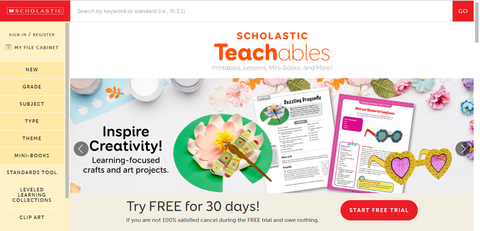 Scholastic Teachables Website