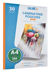 EXTRA STRONG LAMINATION SHEETS A4 GLOSS | DESKIT