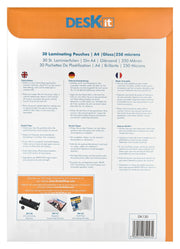EXTRA STRONG LAMINATION SHEETS INSTRUCTIONS | DESKIT