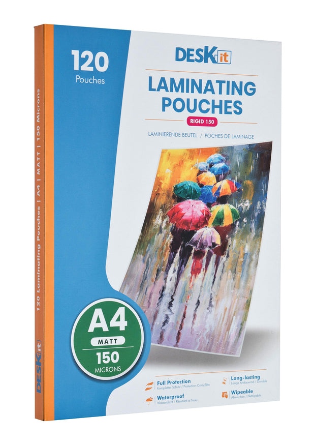 A4 QUALITY MATT LAMINATING POUCHES | DESKIT
