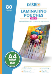 A4 SMALL PACK GLOSS LAMINATING POUCHES | DESKIT