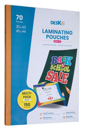 Laminating pouches multipack A4 A3 Matt | deskit