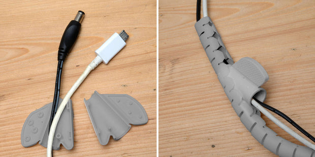 Cable management wrapper grey | deskit