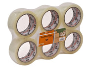 Brackit Clear Packaging Tape , 48mm x 66m, Bulk Pack of 6 Rolls