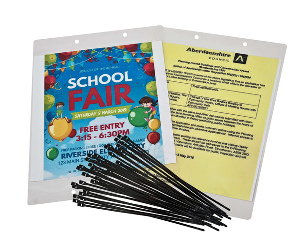 Poster kit A3 laminating sheets and ties | deskit