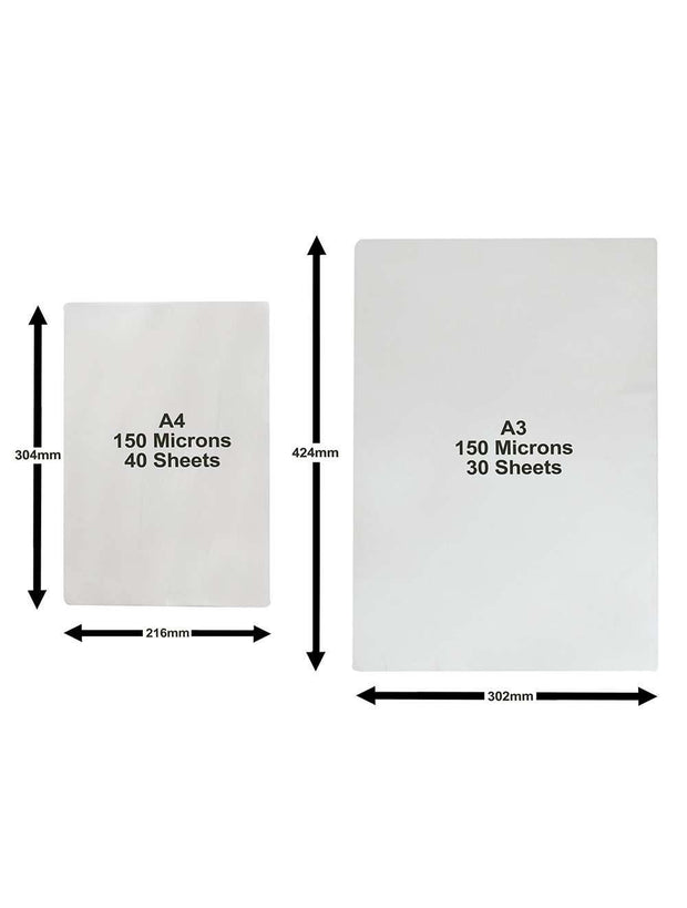 Laminating Pouches A4 and A3 Multipack (Gloss)| DESKITSHOP