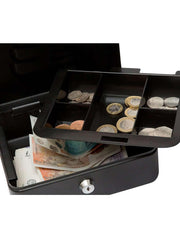 "DESKit 8"" Cash Box with cash tray and 2 keys for petty cash"
