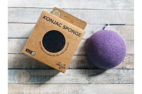 nudi point konjac sponge lavendar