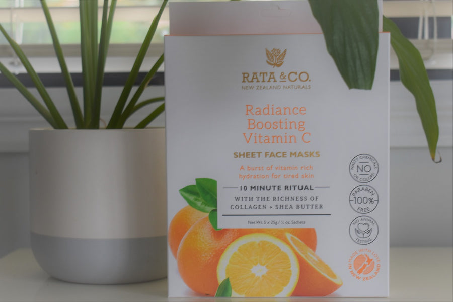 Rata and Co Vitamin C sheet Face Masks Pack of 5