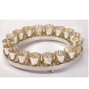ANT SILVER ROUND C/HOLDER - 18 VOTIVES