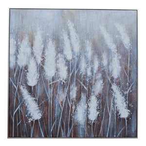 HANDMADE OIL PAINT CANVAS FIELD OF FLOWE