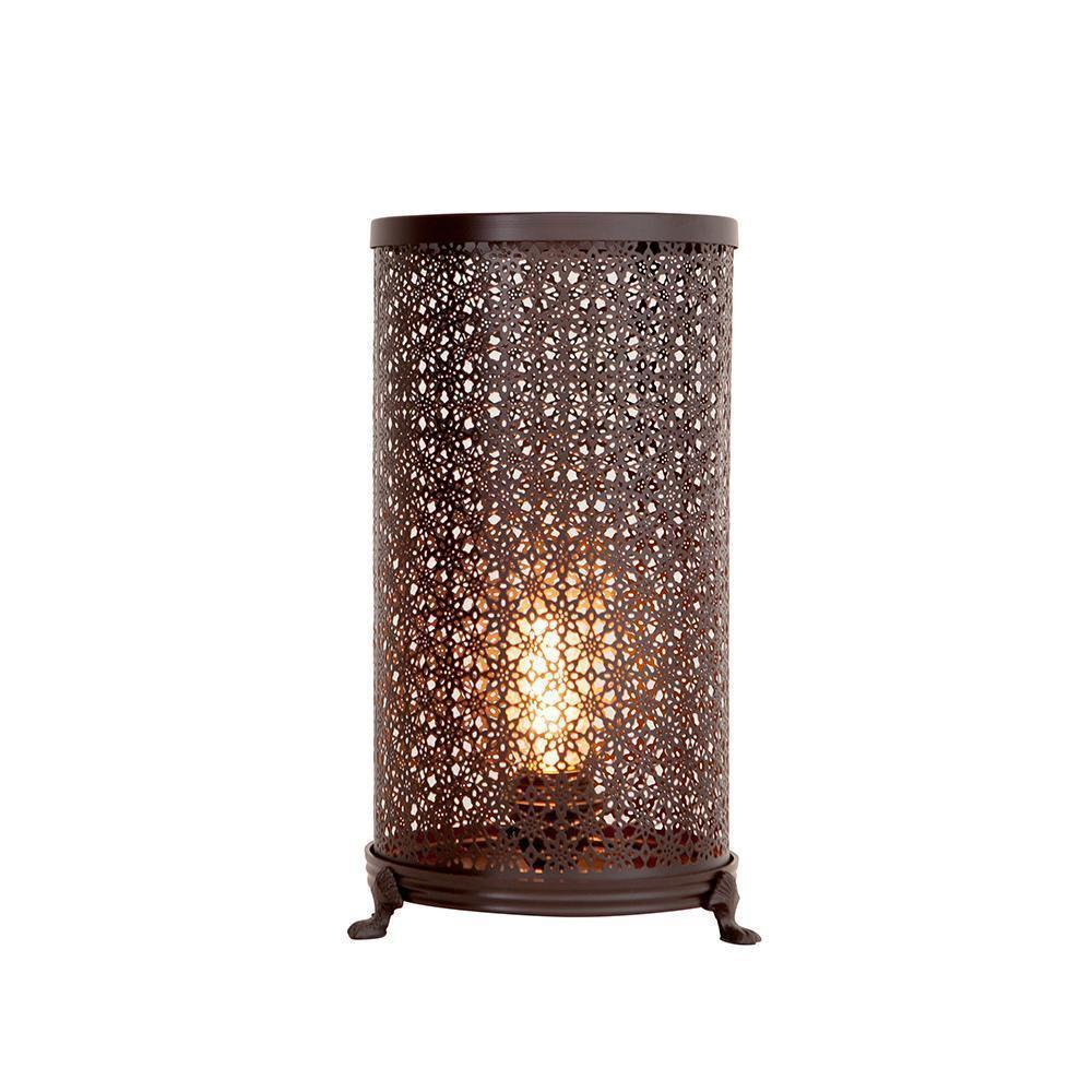 BRONZE FILIGREE HURRICANE LAMP