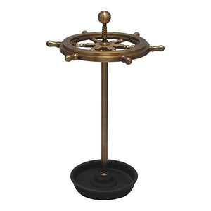 BRASS STEERING WHEEL UMBRELLA STAND