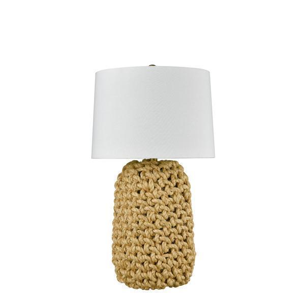 MED KNOTTED ROPE TABLE LAMP W/ SHADE