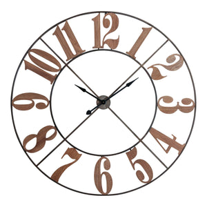 Marco Large Clock Timber Numbers