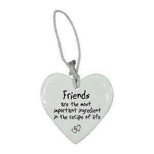 CERAMIC HEART FRIENDS ARE MOST IMPORTANT