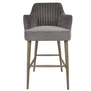 Silver Grey Bar Stool