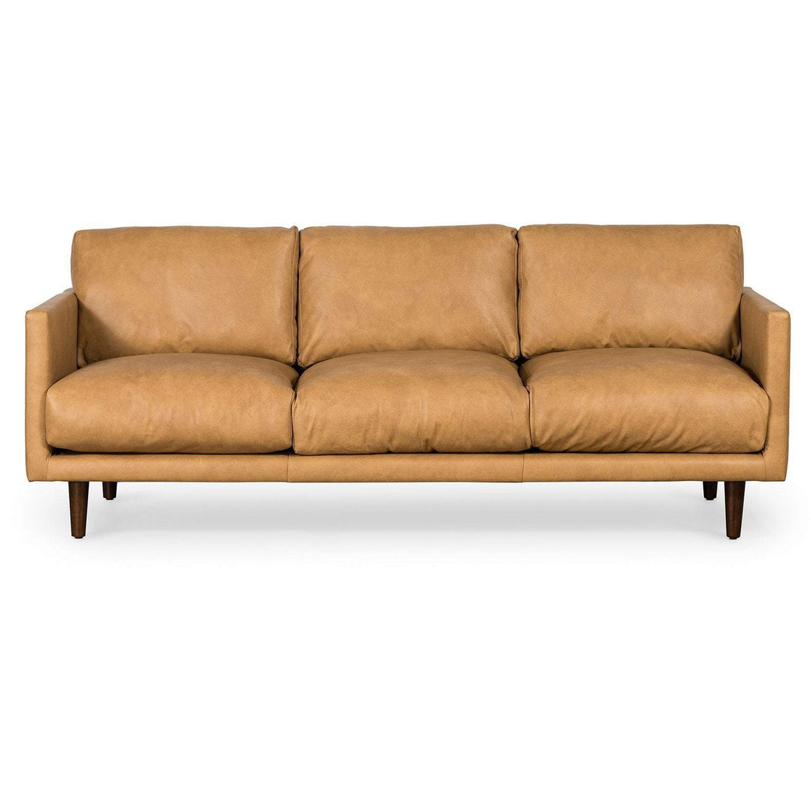 Carson 3 Seat Sofa In Tan Leather