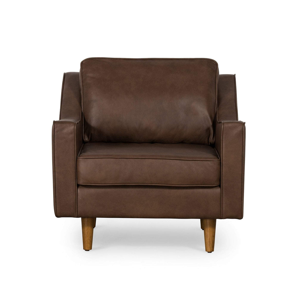 TAYLOR ARMCHAIR IN BROWN LEATHER