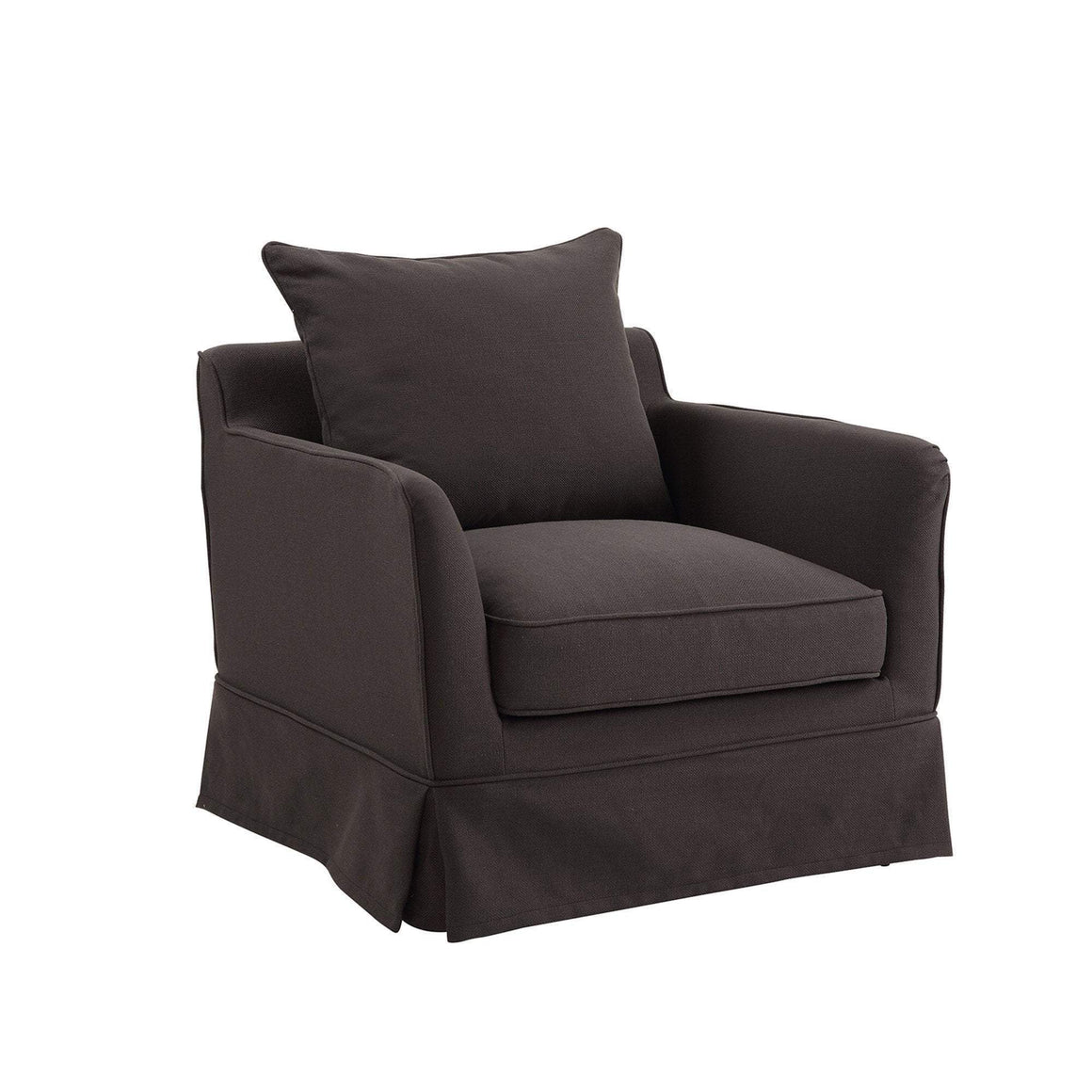 NOOSA ARMCHAIR COVER CHARCOAL