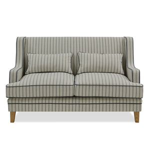 BONDI 2 SEAT SOFA BLUE/WHITE PIN STRIPE