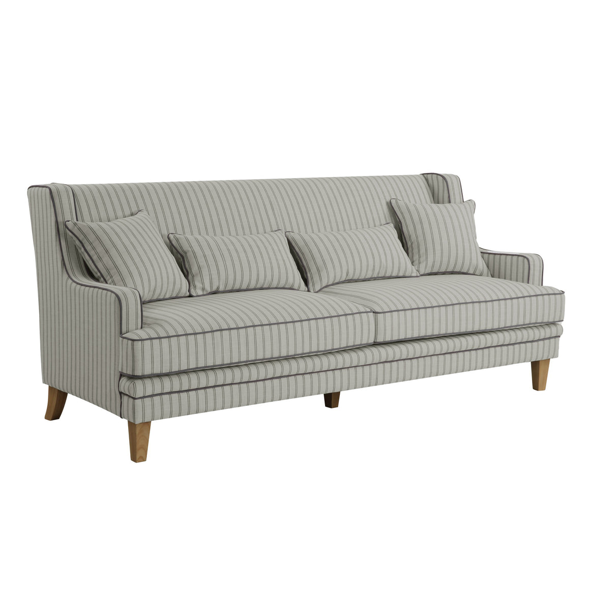 BONDI BLUE/WHITE PIN STRIPE 3 SEAT SOFA