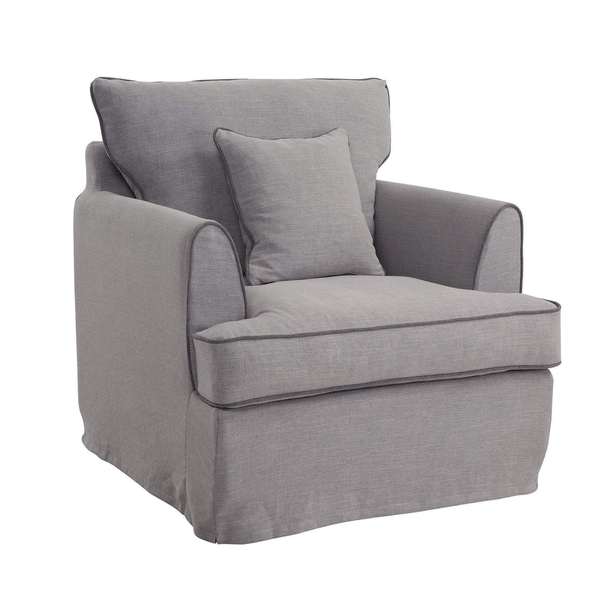 Byron Pebble Grey Armchair