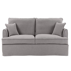 BYRON PEBBLE 3 SEAT SOFA W/ PIPING