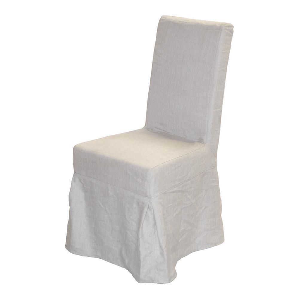 NAPOLI LINEN LACED CHAIR COVER