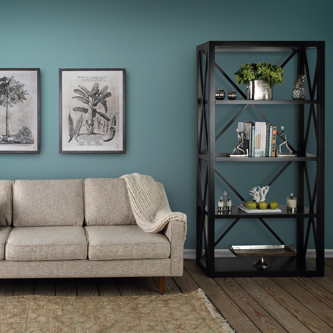 Sorrento Bookshelf Black