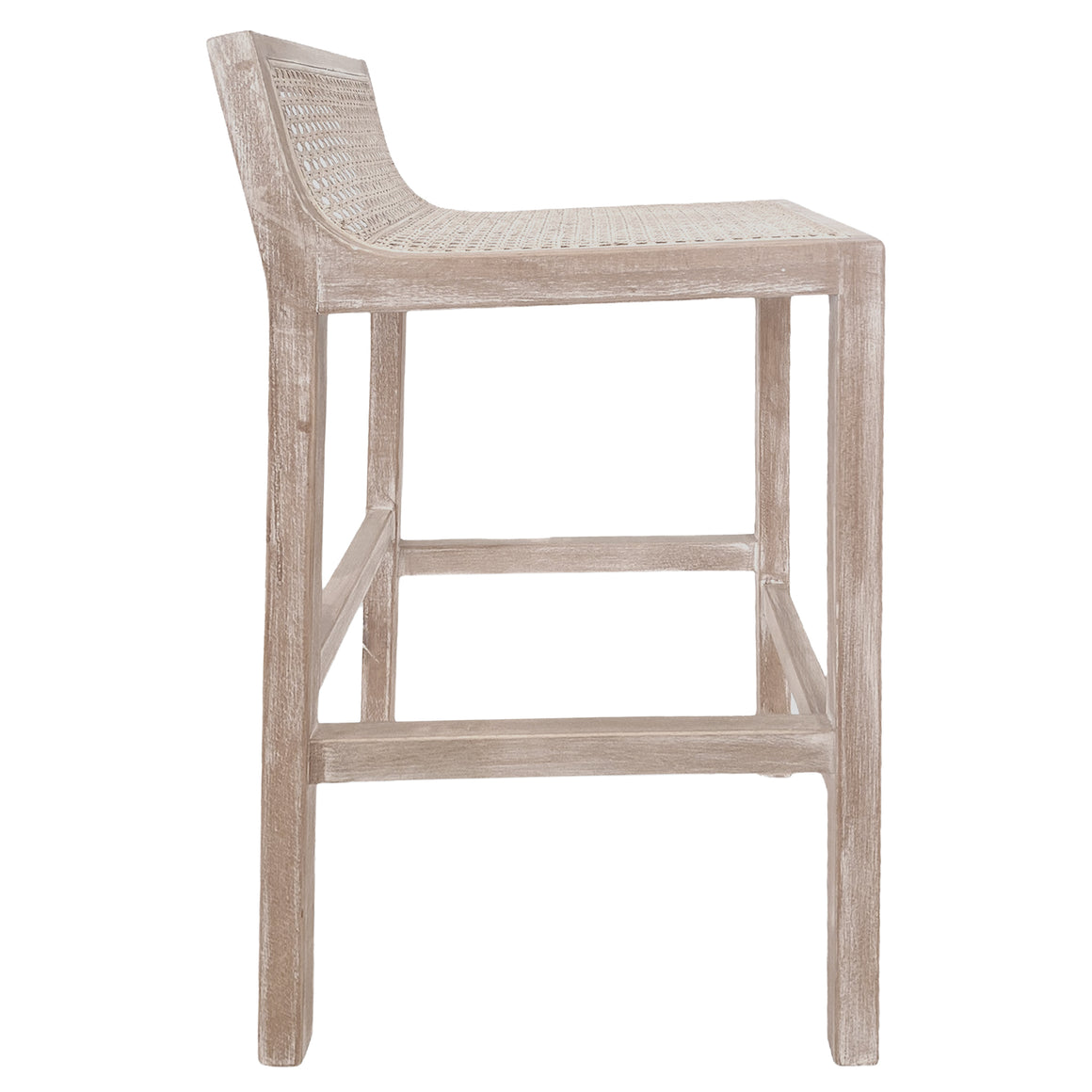 Amalfi Natural Elm and Rattan Barstool