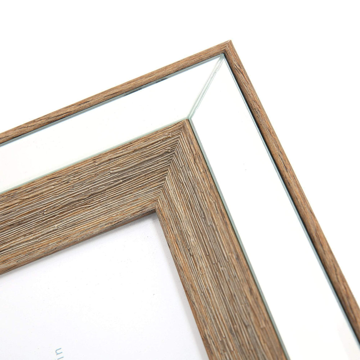 TIMBER MIRRORED PHOTO FRAME - 8X10