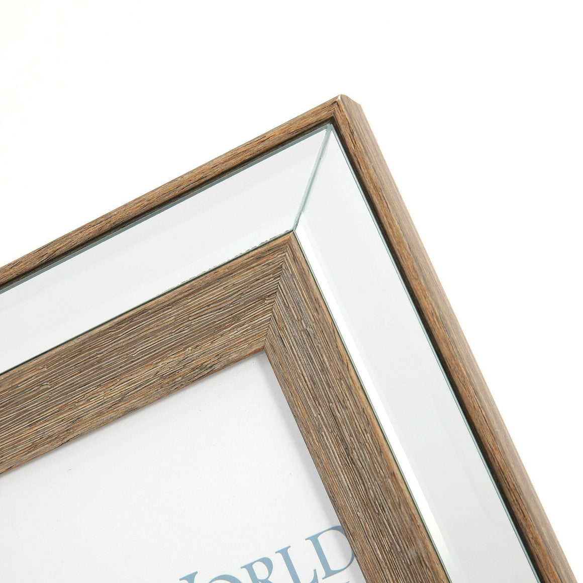 TIMBER MIRRORED PHOTO FRAME - 5X7