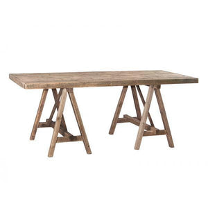 RUSTIC WOODEN A FRAME DINING/DESK TABLE