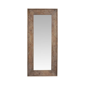 Natural Timber Tall Mirror Cross Design