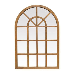 MARCELLE ARCHED NATURAL TIMBER MIRROR