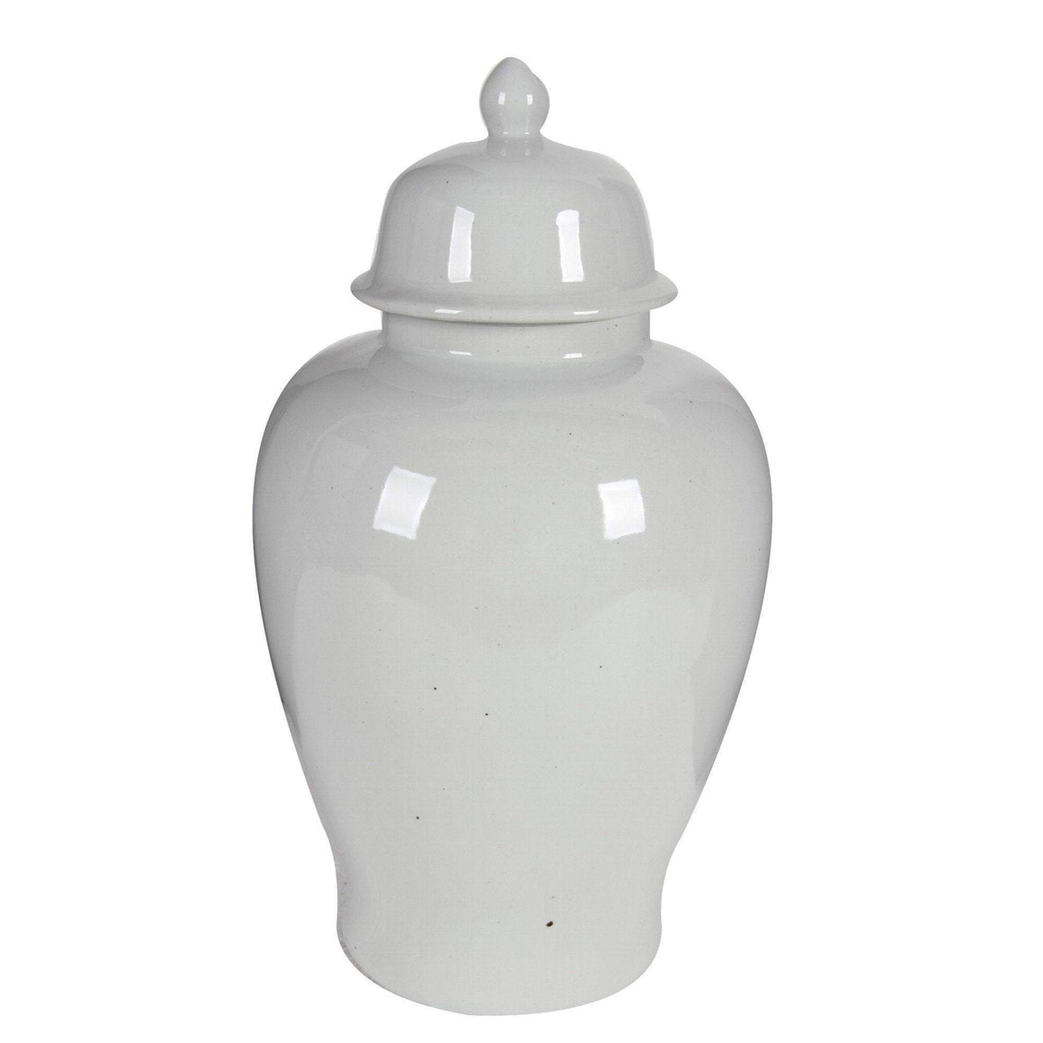 50CM WHITE GINGER JAR WITH LID