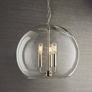 HERITAGE GLASS BUBBLE PENDANT 45CM