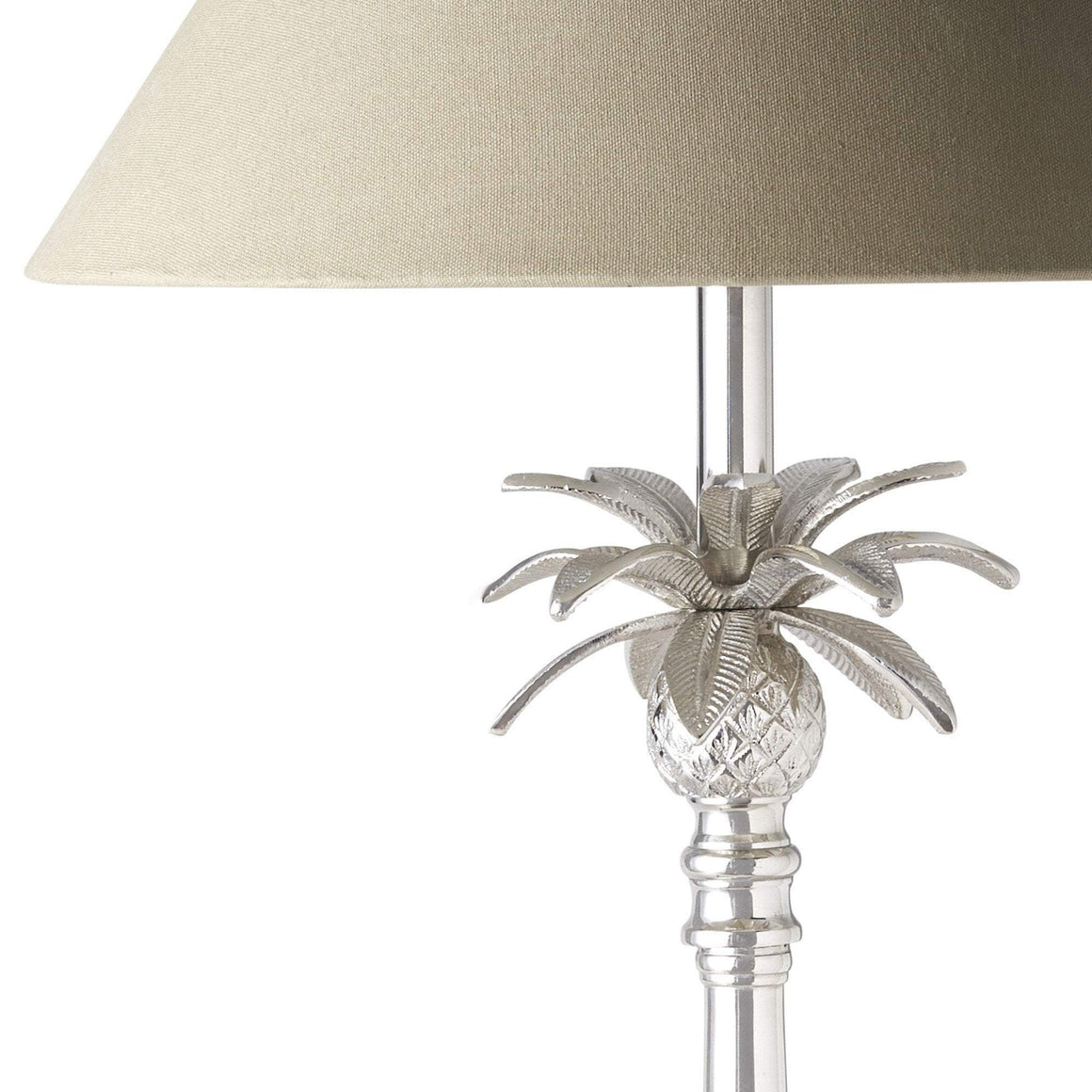 NICKEL PINEAPPLE LAMP 40cm/16in W/TAUPE