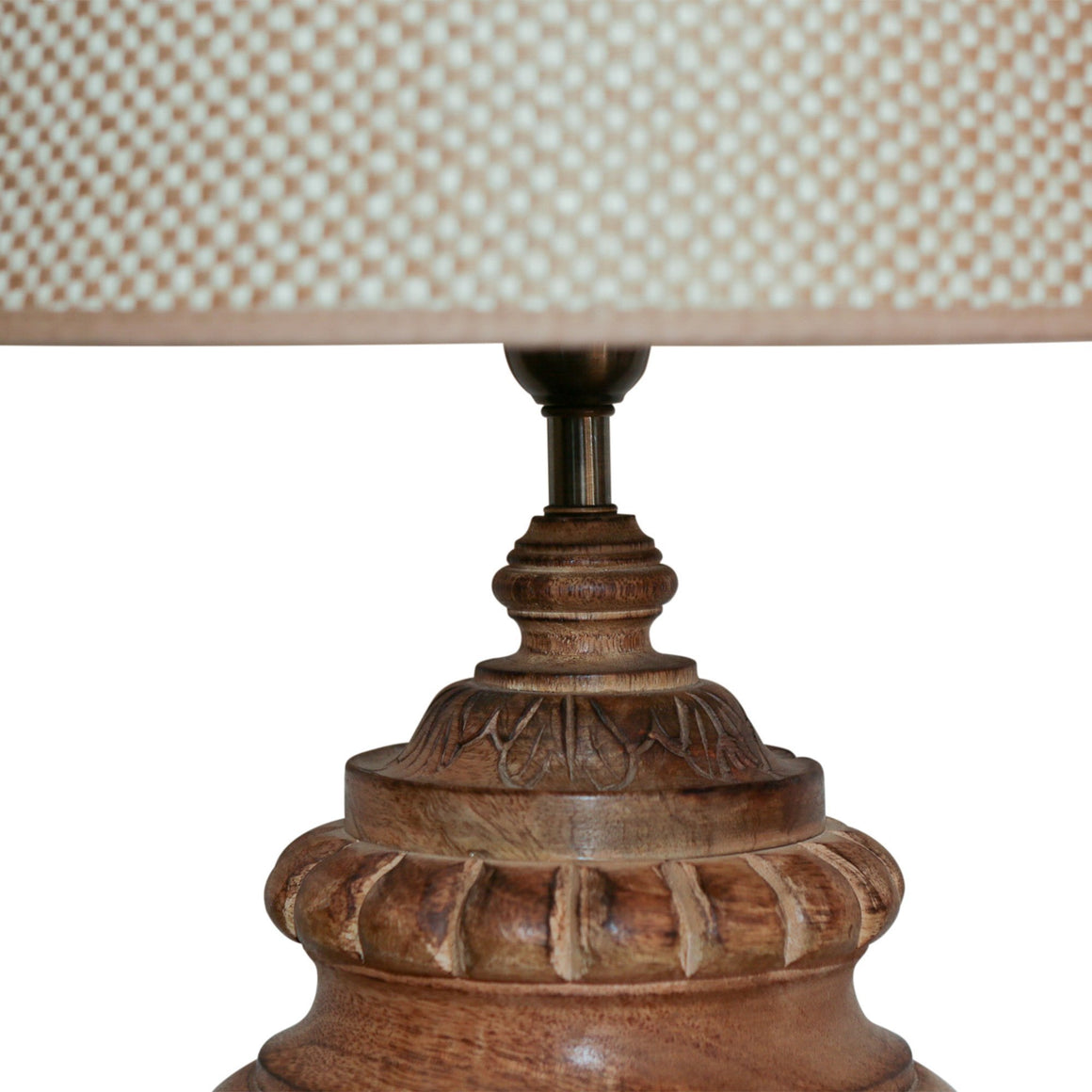 COLMAR WOODEN TABLE LAMP W/ SHADE