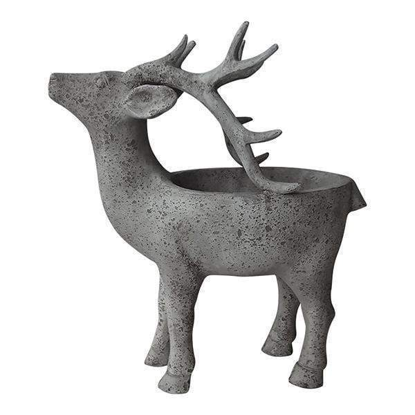 Faux Concrete Standing Reindeer